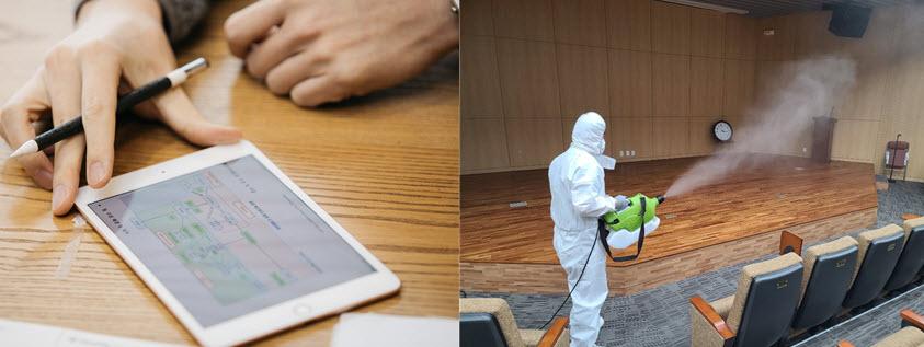 서울대에서 확진자가 발생하면 대응팀과 여러 기관이 유기적으로 움직이는 체계를 갖추고 있어요.